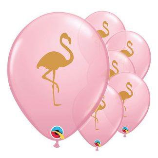 Ballonger Flamingo Rosa/Guld - 25-pack