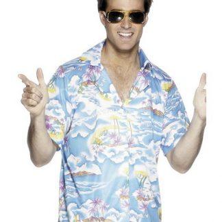 Blå Hawaii Skjorta