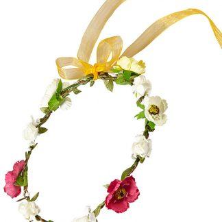 Blomsterkrans med Guldfärgat Band