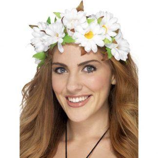 Blomsterkrans, vita blommor