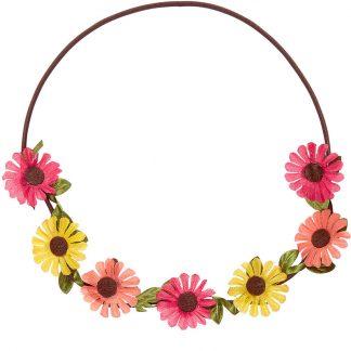 Färgglad Blomsterkrans med Resår