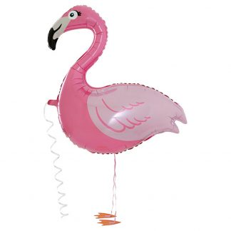 Flamingo Folieballong med Ben