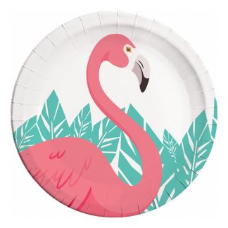 Flamingo Papperstallrikar - 8-pack
