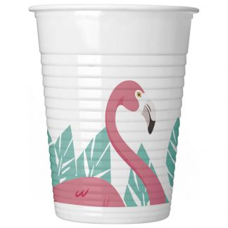 Flamingo Party Plastmuggar