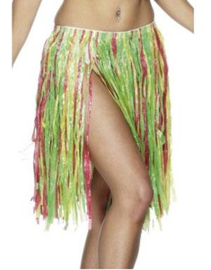 Flerfärgad Lång Hawaii-Kjol