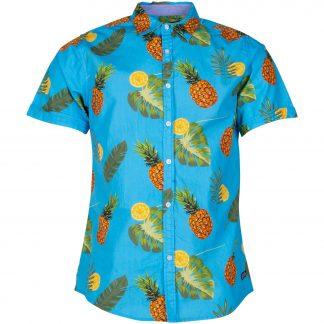 Hawaii Aop Print Shirt S/S, Printed, 2xl, Pool