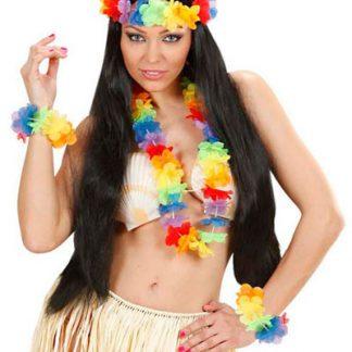 Hawaii Blomsterkrans Set - 3 Delar