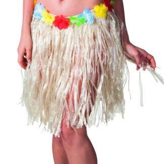 Hawaii-Kjol med Blomsterkant 45 cm