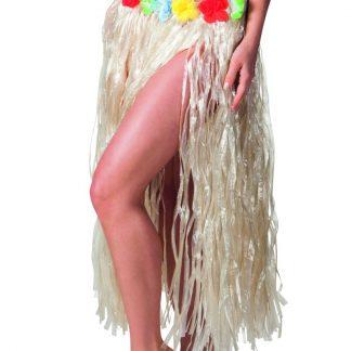 Hawaii-Kjol med Blomsterkant 80 cm