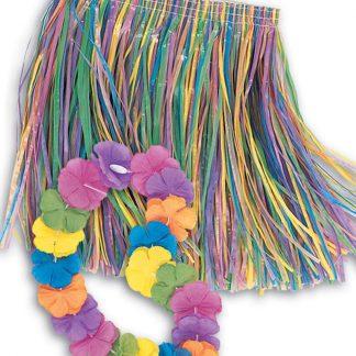 Hawaii-Kjol med Hawaii-Krans - Barnkostym