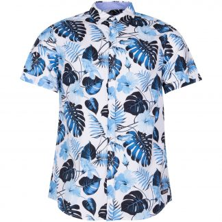 Hawaii Monstrea Shirt S/S, White, 2xl, Pool