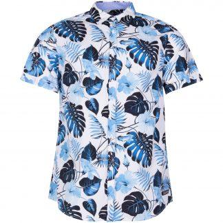 Hawaii Monstrea Shirt S/S, White, Xs, Pool