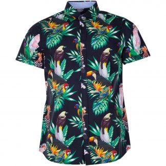 Hawaii Shirt, Black Kakadua, M, Pool