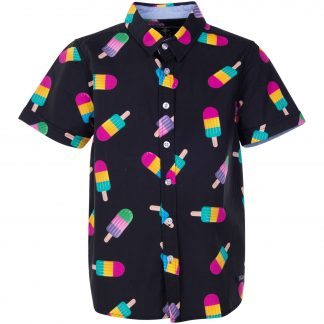 Hawaii Shirt Jr, Black Ice Cream, 120, Blount And Pool