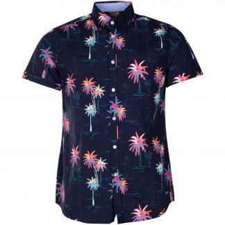 Hawaii Shirt, Navy Sea Palm, Xs, Blount And Pool