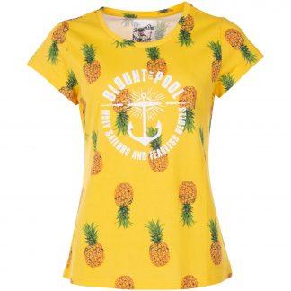 Hawaii Tee W, Yellow Pineapple, 42, T-Shirts