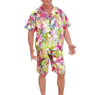 Hawaii-kostym till Man - Skjorta och Shorts