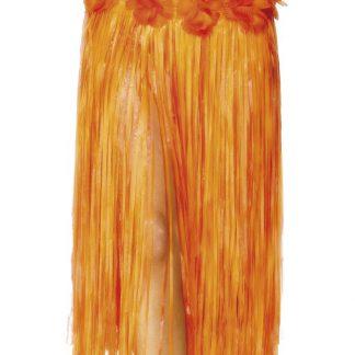 Hula-kjol med Blommor - Orange Hawaii-kjol