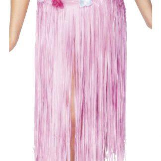 Hula-kjol med blommor - rosa hawaiikjol