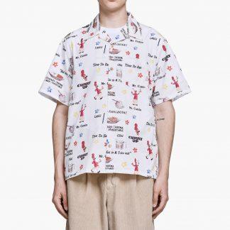 Human Made - Curry Up Aloha Shirt - Vit - M