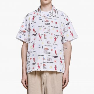 Human Made - Curry Up Aloha Shirt - Vit - XL