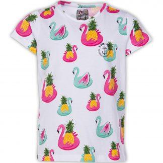 Jungle Tee Jr, White Flamingo Pineapple, 130, T-Shirts