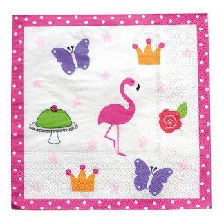 Kalas Servetter Flamingo - 20-pack