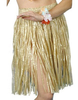 Klassisk Hulakjol - Brun Hawaii-kjol