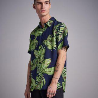 Navy Hawaii Printed S/S Shirt