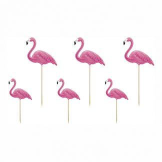 Partypicks Flamingo - 6-pack