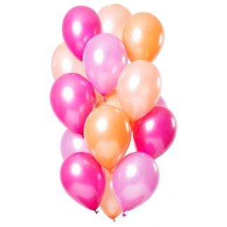 Peachy Flamingo Metallic Ballonger Mix