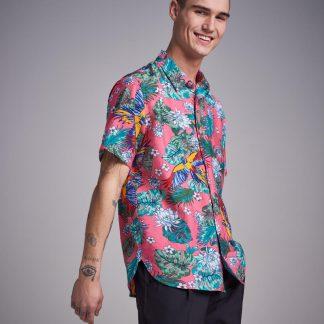 Pink Hawaii Printed S/S Shirt