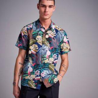 Studio Total Hawaii Printed S/S Shirt Blå