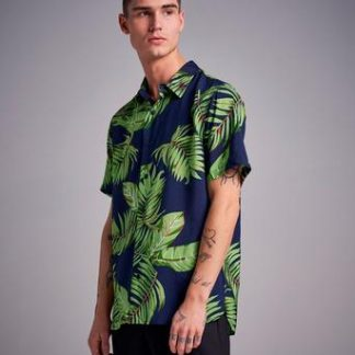 Studio Total Hawaii Printed S/S Shirt Blå
