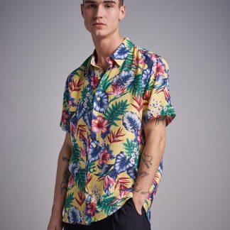 Yellow Hawaii Printed S/S Shirt