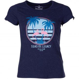 aruba flamingo tee w, navy melange, 38, t-shirts