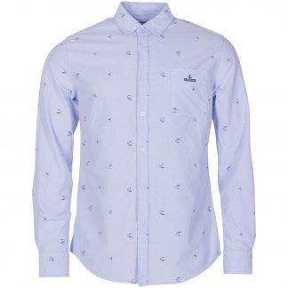 oxford flamingo shirt, lt blue, 2xl, skjortor