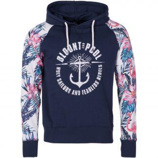 pink & blue flamingo hood, navy, l, tröjor