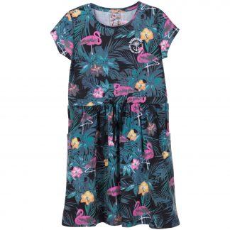 pink flamingo aruba dress jr, black aop, 100, kjolar och klänningar